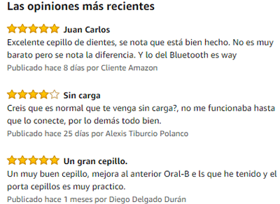 testimonios de compradores sobre el cepillo oral b 4000 crossaction
