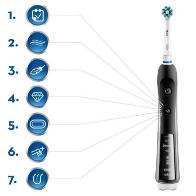 7 modos limpieza del cepillo electrico pro 7000