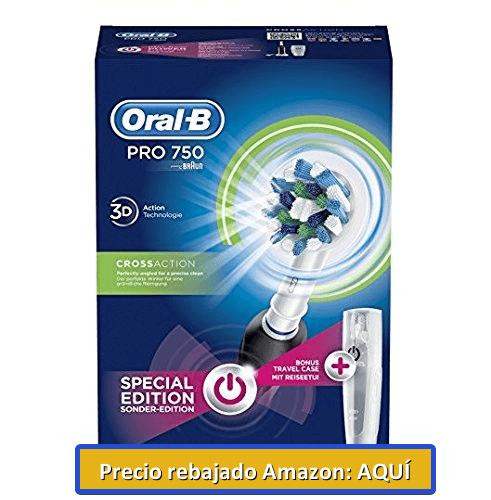 cepilllo de dientes electrico braum oral b pro 750 crossaction